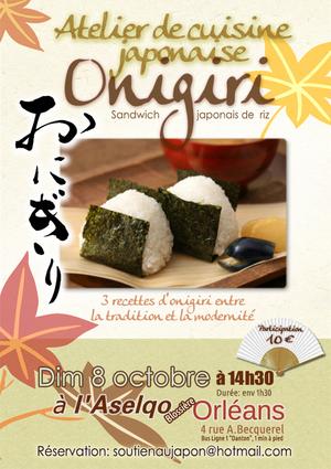 cours de cuisine japonaise onigiri aselqo blossi res orl ans 45000 sortir orl ans. Black Bedroom Furniture Sets. Home Design Ideas