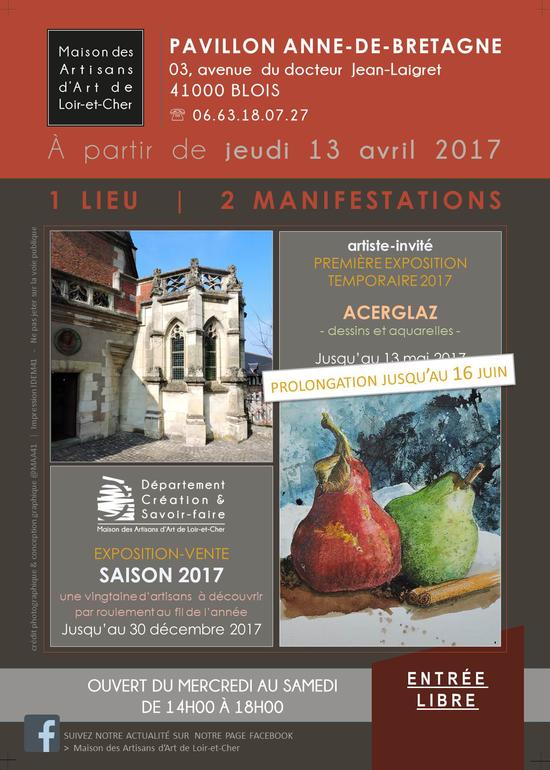 Saison 2017 de la maison des artisans d 39 art de loir et cher expo temporaire pavillon anne de for La maison des artisans