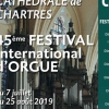 affiche Festival International d'Orgue de Chartres